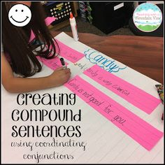 Creating Compound Sentences with Coordinalting Conjunctions- a hands-on approach