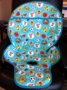eddie bauer high chair cover pattern kids salon jenny lind/eddie seat cover, pad replacement,michael miller forest life | ...