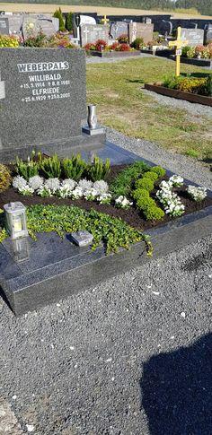 Cemetery Flowers, Ikebana, Stepping Stones, Sidewalk, Outdoor Decor, Plants, Gardening, Blue Prints, Ground Cover Plants