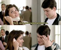 """""""He's devastatingly handsome"""" ~ Ferris Bueller's Day Off (1986) ~ Movie Quotes ~ #moviequotes #ferrisbueller"""