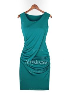Dress - $18.01 - Cotton Solid Sleeveless Above Knee Casual Dresses (1955145232)