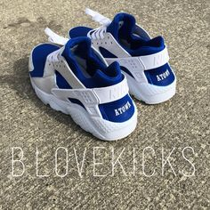"more photos 612e9 c0f20 Bryan Love (Cleveland, OH)📍 on Instagram  ""New custom Nike huarache run⚪  🔵 for  atown0705 🐣"""
