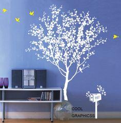 Love Tree  - Style 2 -Vinyl Wall Decal Sticker Art, Mural,Wall Hanging. $67.00, via Etsy.