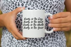 JW   MUG   Early in the Day   Preach the Word  2 Tim 4:2   Pioneer   Elder's   Gift   Baptism   Present by AllThingsEverAfter on Etsy