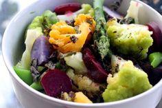 Crayon Box Vegetables w/Crispy Herbs