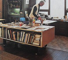 A 1960s Artist Studio full of books no doubt we'd love to read!