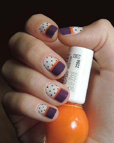 fall nail - 55 Seasonal Fall Nail Art Designs <3 <3
