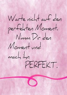Der perfekte Moment, Lettering Card, Quote Art, Word Art, Statements, Zitate, Sprüche, Karten