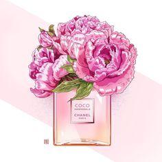 #illustration #flowers #parfum #chanel #cocochanel #peony #pink #fashion #paris #fashonillustration #style #духи #цветы #пионы #иллюстрация #мода #моднаяиллюстрация #стиль #розовый #любимыйаромат