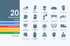 Revolution icons by Palau on Creative Market
