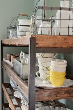 love the wire baskets