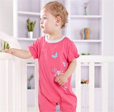 Newborn Infant Baby Girls Short Sleeve Bodysuits Romper Jumpsuit Outfit 0-3M #ibaby #Everyday