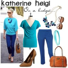 Katherine Heigl on a Budget, created by alyssa-leanne on Polyvore