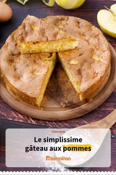 Easy apple cake, a perfect recipe to taste it taste Vegan Buttercream Frosting, Mousse Au Chocolat Torte, Coconut Pound Cakes, Easy Apple Cake, Gluten Free Recipes, Food And Drink, Cooking Recipes, Yummy Food, Snacks