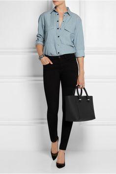 Victoria Beckham | Quincy matte-leather tote | NET-A-PORTER.COM