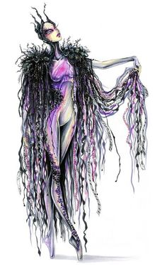 >> Design unitards & overpieces inspired by crystals, chakras, lighting & movement. My theme: Shadows & Fear. Costume Design Sketch, Costumes Couture, Festival Costumes, Design Movements, Drag, Art Costume, Creative Costumes, Boris Vallejo, Fashion Design Sketches