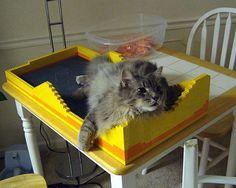 DIY - Lego cat bed.