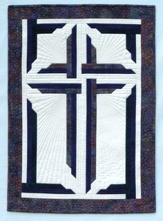 Wondrous Cross quilted wall hanging pattern by In The Doghouse Designs