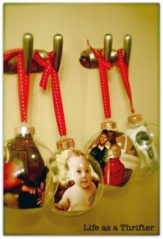 Christmas glass ornaments by gail