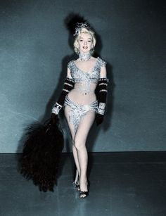 "Marilyn ,original costume for 'Diamonds are a girls best friend"",,So Pretty"