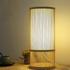 Bay Isle Home 41 cm Tischleuchte Cordon Japanese Lamps, Japanese Bamboo, Desk Lamp, Table Lamp, Maya, Japanese Interior Design, Living Room Bedroom, Lighting, Home Decor