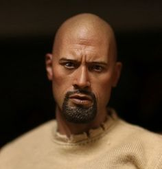 """48.72$  Buy here  - """"1/6 scale figure head shape for 12"""""""" Action figure doll Fast & Furious Luke Hobbs Dwayne Johnson doll head for figure accessories"""""""