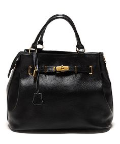 Look what I found on #zulily! Nero & Gold Leather Satchel by Isabella Rhea #zulilyfinds