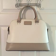 Kate Spade Wellesley Gray Cream Leather Tote Mass posting.  Will add description tonight.  Please do not purchase until description is added or I will need to cancel.  This is the most efficient way for me to list A LOT of bags.  Thanks  kate spade Bags Totes