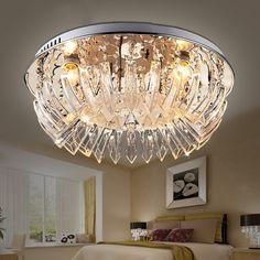 Creative Simple Crystal Bedroom Ceiling Lamp Modern Living Room Ceiling Lamp Dining Room Ceiling Lamp
