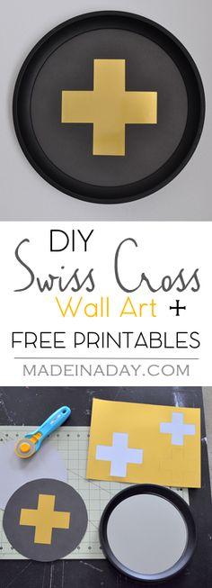 DIY Swiss Cross Wall