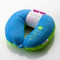 ibacana almofada de viagem verde e azul
