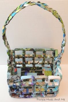 upcycled magazine basket, crafts, go green, how to