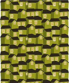 Mökki fabric by Aino-Maija Metsola for Marimekko