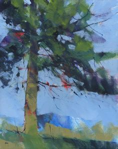 Items similar to Abstract landscape treescape painting by Paul Bailey: Gilfach pine on Etsy Landscape Artwork, Abstract Landscape Painting, Abstract Art, Tree Art, Oeuvre D'art, Painting & Drawing, Original Paintings, Tree Paintings, Canvas Board