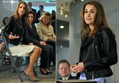 Queen Rania Al Abdullah honored at Microsoft in Redmond.  May 2010