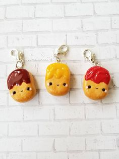 Your place to buy and sell all things handmade Cute Cartoon Food, Cute Food, Polymer Clay Kawaii, Polymer Clay Charms, Clay Projects, Clay Crafts, Chicken Drawing, Crea Fimo, Cute Chickens