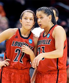 Jude and Shoni Schimmel of the Louisville Cardinals womens basketball team