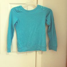 Light blue semiformal long sleeve shirt Long sleeve light blue shirt super cute no visible stains great condition price negotiable/OBO smoke free and pet free home SO Tops Tees - Long Sleeve