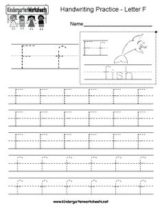 Free Kindergarten Writing Worksheets   Learning To Write The Alphabet.