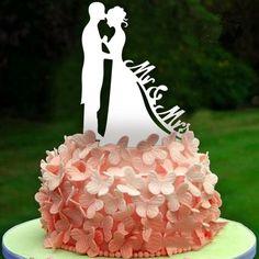 Hochzeitsdeko - Tortenfigur Tortenaufsatz Cake Topper, weiß - ein Designerstück von BriDeh-Collection bei DaWanda