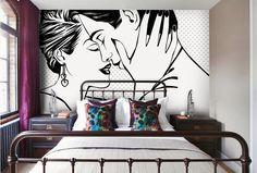 Fototapety czarno białe - zakochana para