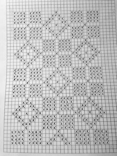 Filet Crochet, Crochet Cross, Crochet Doilies, Fair Isle Knitting Patterns, Knitting Stitches, Doily Patterns, Crochet Patterns, Cross Stitch Designs, Cross Stitch Patterns