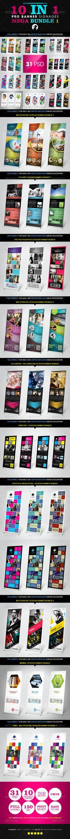 10 In 1 Pro Banner Signages Mega Bundle 1 | $25