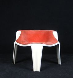 Anonymous; Lacquered Fiberglass Easy Chair, 1960s.