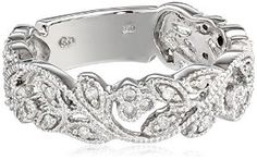 10k White Gold and White Diamond Ring (1/4 cttw, H-I Color, I3 Clarity) $237.77 - $243.98