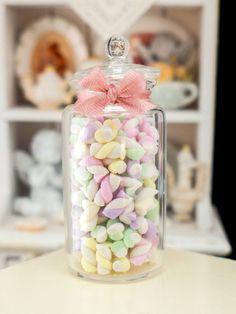 Large Jar of Guimauve  French Marshmallow door ParisMiniatures, $75.00