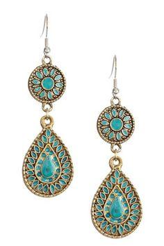 Mohegan Drop Earrings by Monique Leshman on @HauteLook