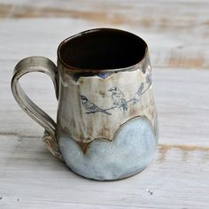 """Today is the last day to enter an epic double mug giveaway! Go a few posts earlier to enter! Thanks so much for following my ceramic """"professional development"""""""