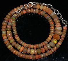 "53 Crts 1 Strands 3 to 8 mm 15"" Beads Ethiopian Welo Opal  AA+++42945"