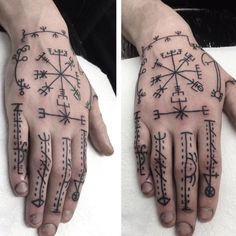Rune Tattoo, Norse Tattoo, I Tattoo, Viking Tattoos, Love Tatto, Eyebrow Lift, Hand Tats, Viking Symbols, Body Is A Temple